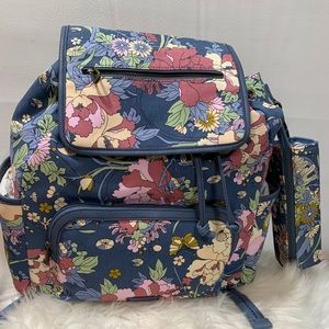 Saktoots Denim Flower Power Entrada Backpack
